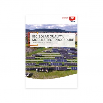 The IBC SOLAR modul testing methods